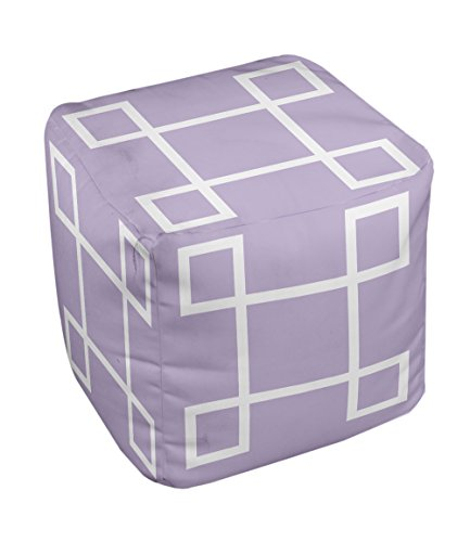 E by design Geometric Pouf, 13-Inch, 1Lilac