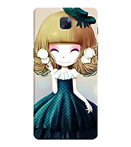 Printvisa Sweet Girlin Green Back Case Cover for OnePlus 3::OnePlus Three