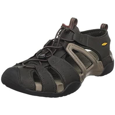 Keen Men's Escape H2 Sandal,Black Olive/Brindle,14 M US