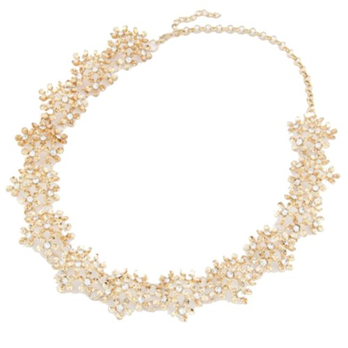Gold Dasiy Flowers Pendants Choker Necklaces Rhienstones Cheap Jewelry for Girl