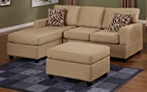 Brilliant Buy 3 Piece Hazelnut Finish Microfiber Sectional Sofa By Alphanode Cool Chair Designs And Ideas Alphanodeonline