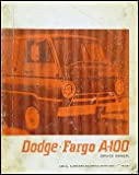 1967 Dodge & Fargo A-100 Van Repair Shop Manual Canada Original
