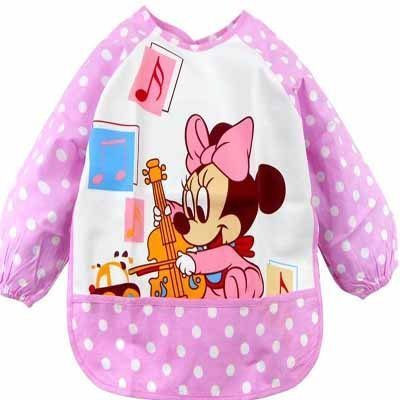 New Cartoon Nwt Baby Waterproof Feeding Bib Pinafore Clothes Pink Etyf006 front-184873
