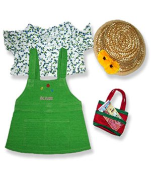 Garden Girl Outfit Teddy Bear Clothes Fit 14