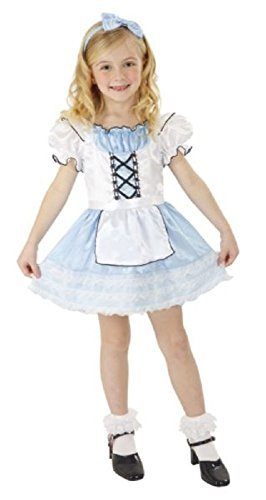 Storybook Alice In Wonderland Girls Costume Small 4-6