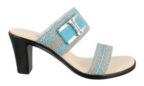Women'S Onex, Xena Mid Heel Sandal Turquoise 8 M front-820328