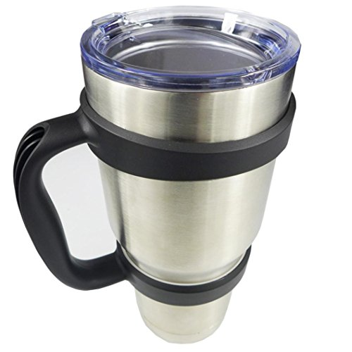 A-store Handle for 30 oz Yeti Rambler Tumbler Cup Mug also fits RTIC Thermik and more Tumblers. BONUS: SECURE TRAVEL CLIP
