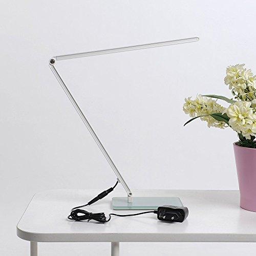 ELINKUME-Hohe-Helligkeit-7W-600-Lumen-Augenschutz-LED-Schreibtischleuchte-Leselampe-Berhrungsempfindliche-Steuerung-Dimmbare-Faltbare-Gehrtetes-Glas-Sockel-Silber