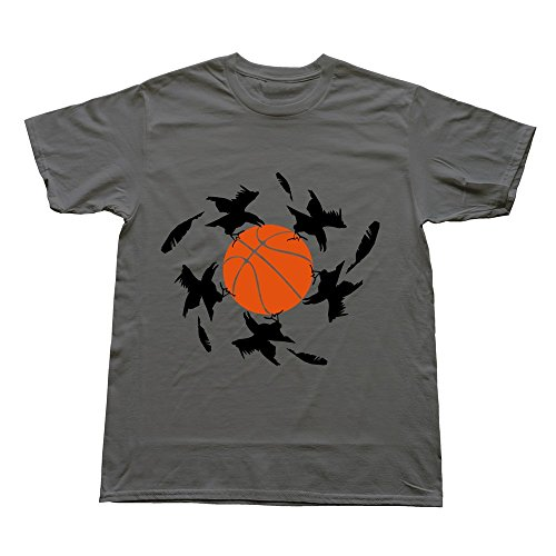 Hoxsin Deepheather Men'S Basketball Crows Hot 100% Cotton T Shirts Us Size M