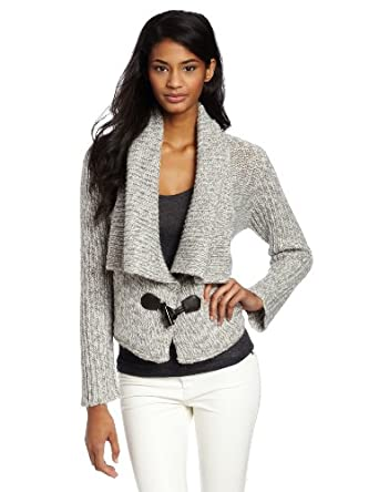 Twelfth Street by Cynthia Vincent Women's Shawl Collar Cardigan, Taupe, Large