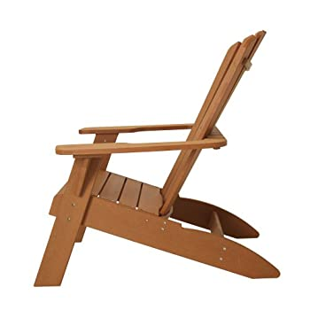 Lifetime Faux Wood Adirondack Chair, Light Brown - 60064