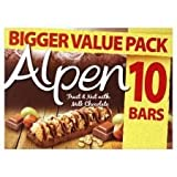 Alpen Fruit & Nut With Milk Chocolate X 10 290G