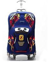 Baigio 3D Lightning McQueen Design Children Trolley Carry-on Hand Luggage,18 inch