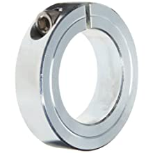 Climax Metal One-Piece Clamping Shaft Collar, Zinc-Plated Steel