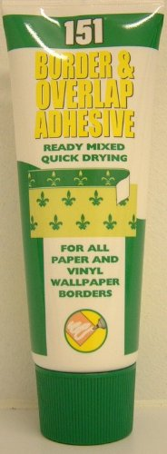 WALLPAPER BORDER & OVERLAP ADHESIVE 180ML READY MIX QUICK DRY