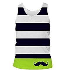Snoogg Mustache Nautica Mens Casual Beach Fitness Vests Tank Tops Sleeveless T shirts