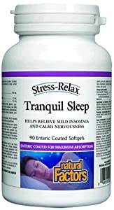 Natural factors stress-relax« tranquil sleep enteric 90 softgels ( Multi-Pack)