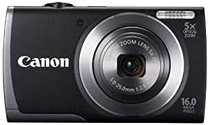 Canon PowerShot A3500 IS Camera with Wi-Fi - Black (16MP, 28mm Wide Angle, 5x Optical Zoom) 3.0 inch LCD (discontinued by manufacturer)