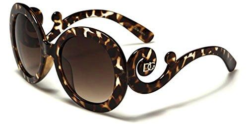 Dg Eyewear Round Frame Vintage Oversized Sunglasses