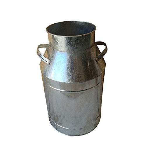 Galvanized Milk Can 0