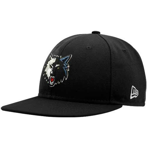 96bb3344a81 New Era Minnesota Timberwolves Black 59FIFTY Fitted Hat