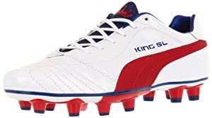 Puma Men's King Finale SL I FG Soccer Cleat,White/Ribbon Red/Limoges,9 D US