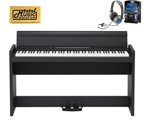 Fantastic Deal! Korg LP380BK 88-Key Home Digital Piano with Stand & Pedals, Black, LP380 RH3 KEY