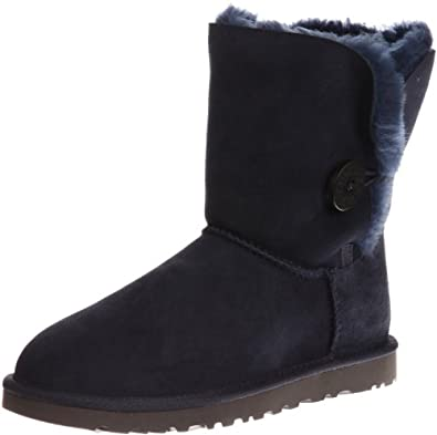 UGG Australia Womens Bailey Button Boot Navy Size 5