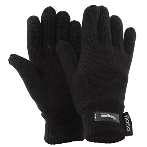 FLOSO® Ladies/Womens Thinsulate Thermal Knitted Gloves (3M 40g)
