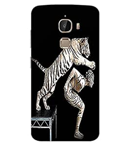 ColourCraft Man and Tiger Design Back Case Cover for LeEco Le 2 Pro
