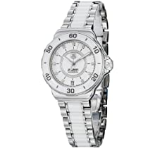 Tag Heuer Formula 1 Diamond Accented White Ceramic Ladies Watch WAU2211BA0861