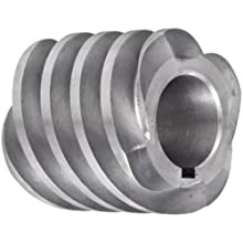 "Boston Gear D1627KRH Worm Gear, 14.5 Degree Pressure Angle, 0.875"" Bore, 8 Pitch, 1.5 PD, RH"