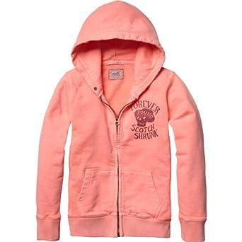 Scotch Shrunk Jungen Sweatshirt 13410240500 - basic g/d zip through sweat, Gr. 140 (10), Mehrfarbig (21 - flamengo)