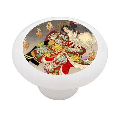 The Foxfires By Yoshitoshi Decorative High Gloss Ceramic Drawer Knob front-935462
