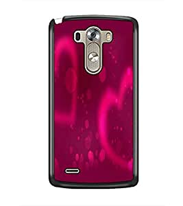 PrintDhaba Hearts D-2437 Back Case Cover for LG G3 (Multi-Coloured)