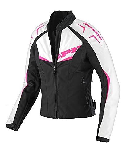 Spidi T173-545 Blouson Textile NW 200 Femme, Noir/Fuchsia, Taille XS