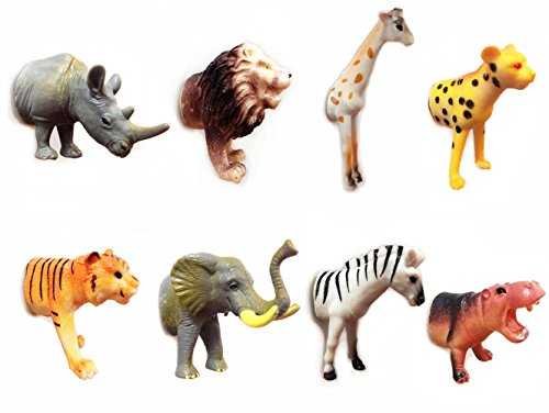 Magstick Safari Animal Forepart Magnets with Strong Magnets (Set of 8) Fun Decorative Refrigerator Magnets,Fridge Magnet,Whiteboard Magnets,Calendar Magnets, Map (Necklace Dollar Sign Jumbo)