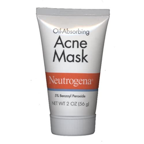 Amazon.com : Neutrogena Oil-Absorbing Acne Mask Natural Clay Mask 2 Oz