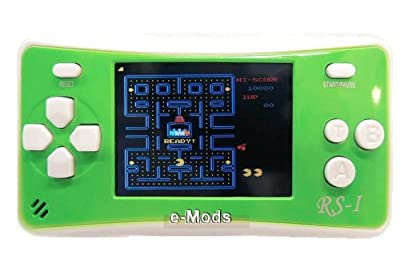 "WOLSEN 2.5"" LCD Portable Game Console Speaker (Green+ White) (3 X AAA) 152 in 1 Games"