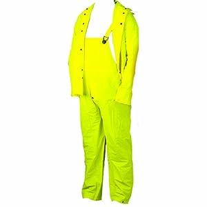 Diamond 14-386 0.20-Mil PVC Three Piece Rain Suit, Large