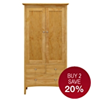 Hastings Natural Double Wardrobe
