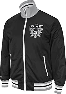 NFL Oakland Raiders Vintage Preseason Full Zip Jacket - Black by Mitchell & Ness