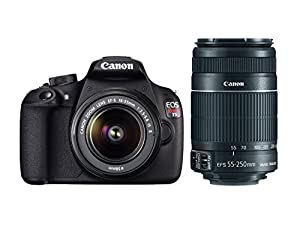 Canon EOS Rebel T5 18-55mm IS + EF-S 55-250mm f/4-5.6 IS II Telephoto Zoom Lens
