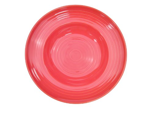 CAC China TG-3R Tango 9-Ounce Red Porcelain Pasta Bowl, 9-Inch, Box of 24
