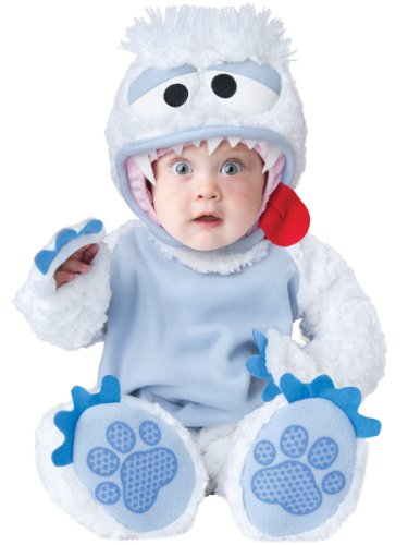 InCharacter Baby's Abominable Snowbaby Costume, White/Blue, X-Small