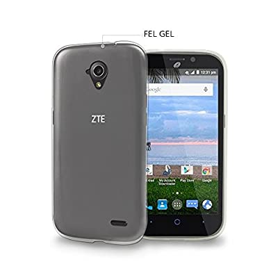 Spots8® Slim Fit flexible gel case for ZTE Allstar & Stratos in Crystal Clear from Spots8