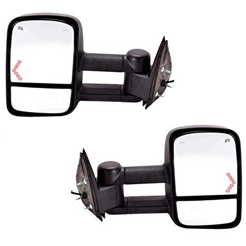 DEDC Chevy Tow Mirrors Side Mirrors Towing Mirrors Power Heated with Arrow Signal Light for 2003-2007 Chevrolet Silverado GMC Sierra 1 Pair (2003 Chevy Truck Tow Mirrors compare prices)