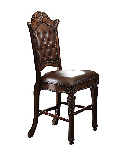Counter Height Faux Leather Chair