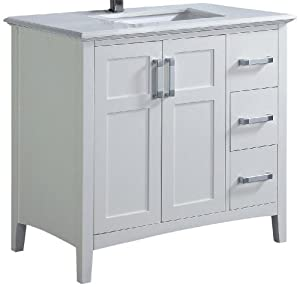 Winston 36 Bath Vanity With Quartz Marble Top Bathroom