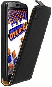 mumbi PREMIUM ECHT Leder Flip Case LG G2 Tasche (keine Aussparung für den Klinkenanschluss)